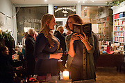 ANNA PHIPPS; DANIELLE MORLEY,  , ,  Launch of a new book series by Notting Hill Editions. The Idler Academy. Wetbourne Park Rd. London. 14 December 20911.