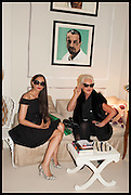RUSHKA BERGMAN; AMANDA ELIASCH, Nicky Haslam hosts a party to launch a book by  Maureen Footer 'George Stacey and the Creation of American Chic' . With a foreword by Mario Buatta. Kensington. London. 11 June 2014