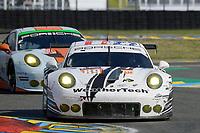 Cooper Mac Neil (USA) / Lehman KEEN (USA) / Marc Miller (USA)  #89 Proton Competition Porsche 911 RSR, . Le Mans 24 Hr June 2016 at Circuit de la Sarthe, Le Mans, Pays de la Loire, France. June 18 2016. World Copyright Peter Taylor/PSP.