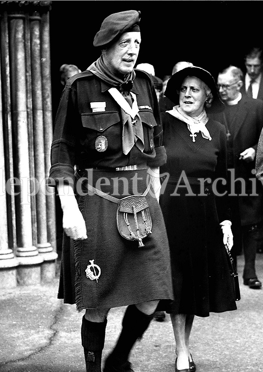 Lord Powerscourt, chief scout. 1959. (Part of the Independent Ireland Newspapers/NLI Collection)