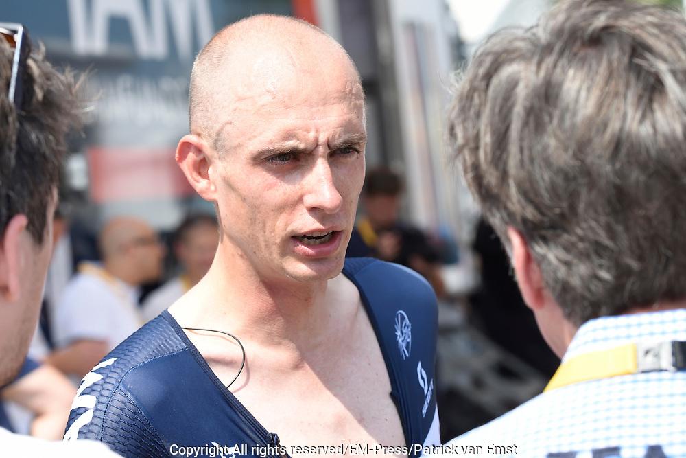 Eerste etappe Tour de France, Tijdrit in Utrecht / First stage Tour de France time trial in Utrecht.<br /> <br /> Op de foto: Stef Clement