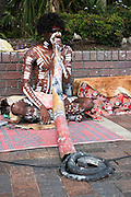 Sydney, Australia Aboriginal Didgeridoo player