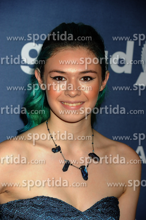 Nicole Maines, 27th Annual GLAAD Media Awards, at The Beverly Hilton Hotel, April 2, 2016 - Beverly Hills, California. EXPA Pictures © 2016, PhotoCredit: EXPA/ Photoshot/ Celebrity Photo<br /> <br /> *****ATTENTION - for AUT, SLO, CRO, SRB, BIH, MAZ, SUI only*****
