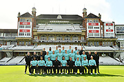 Players in T20 kit during Surrey County Cricket Club Media Day at the Kia Oval, Kennington, United Kingdom on 16 April 2018. Picture by Alistair Wilson.