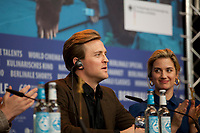 Actor Tobias Santelmann and actress Danica Curcic at the press conference for the film Out Stealing Horses (Ut Og Stjæle Hester) at the 69th Berlinale International Film Festival, on Saturday 9th February 2019, Hotel Grand Hyatt, Berlin, Germany.