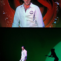 Picture shows : Thomas Walker as Lindoro..Picture  ©  Drew Farrell Tel : 07721 -735041..A new Scottish Opera production of  Rossini's 'The Italian Girl in Algiers' opens at The Theatre Royal Glasgow on Wednesday 21st October 2009..(Soap) opera as you've never seen it before.Tonight on Algiers.....Colin McColl's cheeky take on Rossini's comic opera is a riot of bunny girls, beach balls, and small screen heroes with big screen egos. Set in a TV studio during the filming of popular Latino soap, Algiers, the show pits Rossini's typically playful and lyrical music against the shoreline shenanigans of cast and crew. You'd think the scandal would be confined to the outrageous storylines, but there's as much action off set as there is on.... .Italian bass Tiziano Bracci makes his UK debut in the role of Mustafa. Scottish mezzo-soprano Karen Cargill, who the Guardian called a 'bright star' for her performance as Rosina in Scottish Opera's 2007 production of The Barber of Seville, sings Isabella. .Cast .Mustafa...Tiziano Bracci.Isabella..Karen Cargill.Lindoro...Thomas Walker.Elvira...Mary O'Sullivan.Zulma...Julia Riley.Haly...Paul Carey Jones.Taddeo...Adrian Powter. .Conductors.Wyn Davies.Derek Clarke (Nov 14). .Director by Colin McColl.Set and Lighting Designer by Tony Rabbit.Costume Designer by Nic Smillie..New co-production with New Zealand Opera.Production supported by.The Scottish Opera Syndicate.Sung in Italian with English supertitles..Performances.Theatre Royal, Glasgow - October 21, 25,29,31..Eden Court, Inverness - November 7. .His Majesty's Theatre, Aberdeen  - November 14..Festival Theatre,Edinburgh - November 21, 25, 27 ...Note to Editors:  This image is free to be used editorially in the promotion of Scottish Opera. Without prejudice ALL other licences without prior consent will be deemed a breach of copyright under the 1988. Copyright Design and Patents Act  and will be subject to payment or legal action, where appropriate..Further further information please co