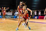 Kimiora Poi of the Tactix during the ANZ Premiership Netball match, Tactix V Magic, Horncastle Arena, Christchurch, New Zealand, 6th June 2018.Copyright photo: John Davidson / www.photosport.nz