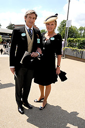 NIGEL HAVERS & his wife GEORGINA at the ist day of the 2008 Royal Ascot racing festival on 17th June 2008.<br />