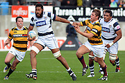 Patrick Tuipulotu in action during the Taranaki vs Auckland ITM cup match played at Yarrow Stadium New Plymouth New Zealand. Saturday the 7th of September 2013. <br /> Photo John Velvin/Photosport.co.nz