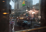 A view to the Palace Cafe across Canal street on August 19, 2012 in New Orleans.
