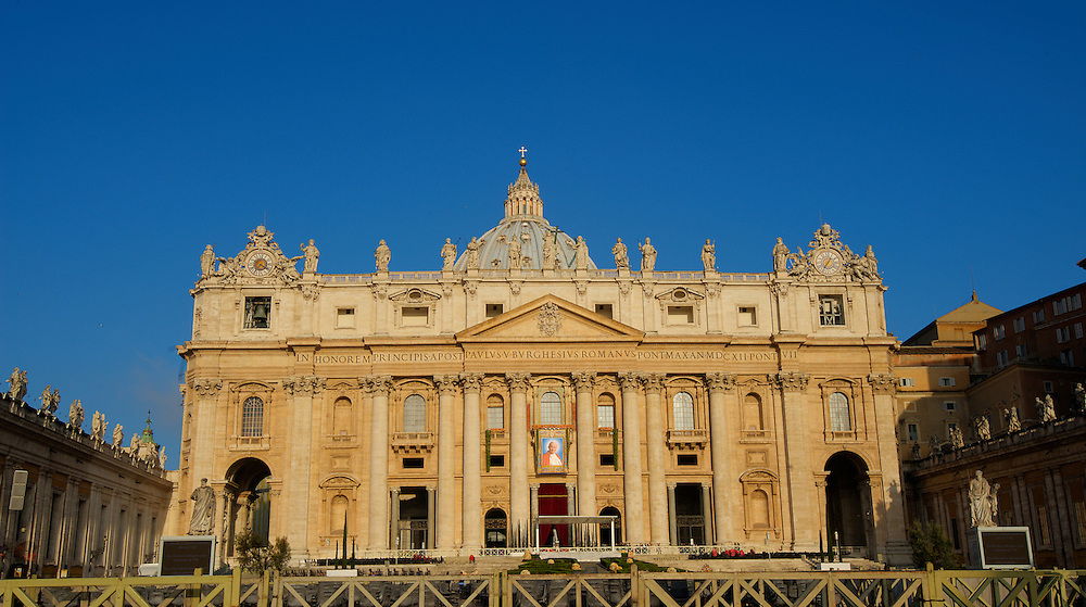 St. Peter's Basilica in the early morning May 3. HDR merge of three images using Photomatix Pro. (Sam Lucero photo)