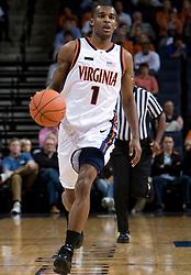 Virginia guard Jeff Jones (1)..The #23 Virginia Cavaliers men's basketball team faced the Drexel Dragons  at the John Paul Jones Arena in Charlottesville, VA on November 20, 2007.