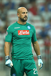 August 22, 2017 - Nice, France - Pepe Reina of Napoli  during the UEFA Champions League Qualifying Play-Offs round, second leg match, between OGC Nice and SSC Napoli at Allianz Riviera Stadium on August 22, 2017 in Nice, France. (Credit Image: © Matteo Ciambelli/NurPhoto via ZUMA Press)