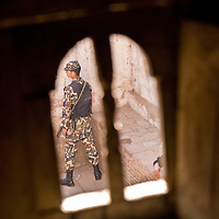 Soldier on guard at Bhaktapur, Nepal