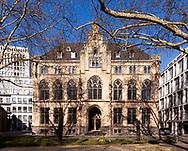 Hotel Qvest in the Frisenviertel quarter, former historical city archive, Cologne, Germany.<br /> <br /> Hotel Qvest im Friedenviertel, ehemaliges historisches Stadtarchiv, Koeln, Deutschland.
