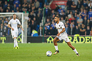 Kemar Roofe of Leeds United during the EFL Sky Bet Championship match between Cardiff City and Leeds United at the Cardiff City Stadium, Cardiff, Wales on 26 September 2017. Photo by Andrew Lewis.