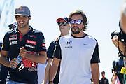 September 3-5, 2015 - Italian Grand Prix at Monza: Fernando Alonso (SPA), McLaren Honda, Carlos Sainz Jr. Scuderia Toro Rosso
