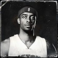 Sep 29, 2014; Auburn Hills, MI, USA;  (Editor's Note: Photo was post-processed creating a digital tintype) Detroit Pistons guard Lorenzo Brown (24) during media day at the Pistons practice facility. Mandatory Credit: Rick Osentoski-USA TODAY Sports