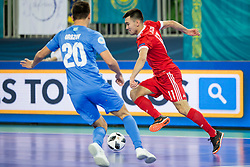 Artem Niyazov of Russia during futsal match between National teams of Kazakhstan and Russia at Day 5 of UEFA Futsal EURO 2018, on February 3, 2018 in Arena Stozice, Ljubljana, Slovenia. Photo by Urban Urbanc / Sportida