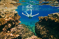 Fethiye to Kas, Turkey, October 2007. Snorkeling and swimming between the rocks is a good way to cool down on a hot day. The Blue Cruise on a wooden sailing yacht, better known as gulet, is one of the best ways to explore the Turkish Mediterranean Coast. Photo by Frits Meyst/Adventure4ever.com