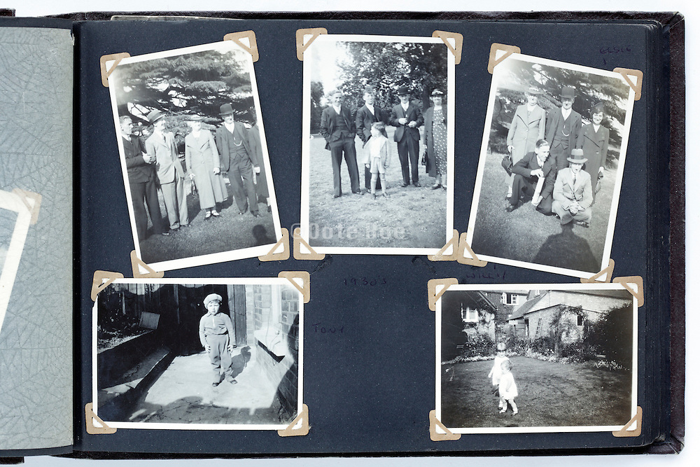 happy times photo album page 1930s England
