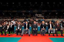 23-08-2009 VOLLEYBAL: WGP FINALS CEREMONY: TOKYO <br /> Brazilie met wint de World Grand Prix 2009 / FiVb officials met oa Jizhong Wei<br /> ©2009-WWW.FOTOHOOGENDOORN.NL