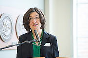 Jenny Klein, assistant dean, speaks at the Allen Student Advising Center ribbon cutting ceremony. © Ohio University / Photo by Olivia Wallace
