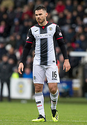 St mirren Ian McShane  during the Ladbrokes Scottish Premier League match at St Mirren Park, St Mirren.