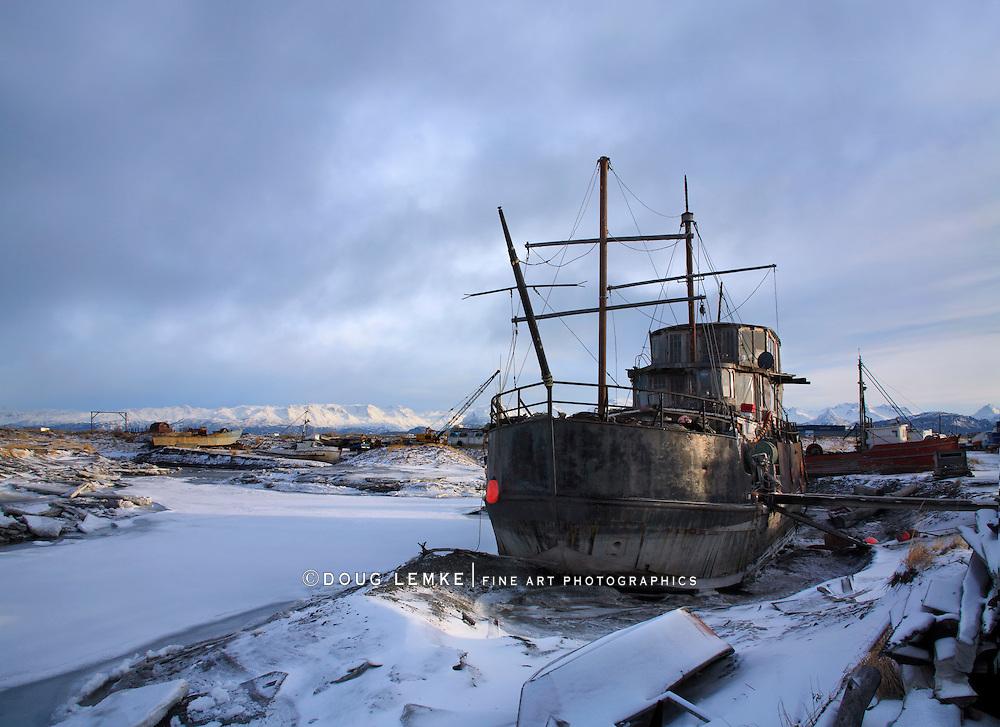 Old Boat Junk Yard, Homer Alaska, Kenai Peninsula