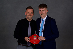 NEWPORT, WALES - Saturday, May 19, 2018: Corey Glaves and family during the Football Association of Wales Under-16's Caps Presentation at the Celtic Manor Resort. (Pic by David Rawcliffe/Propaganda)
