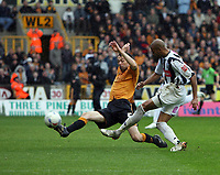 Photo: Rich Eaton.<br /> <br /> Wolverhampton Wanderers v West Bromwich Albion. Coca Cola Championship. Play off Semi Final, 1st Leg. 13/05/2007. West Broms Diomansy Kamara scores in the second half to make it 3-2 to West Brom