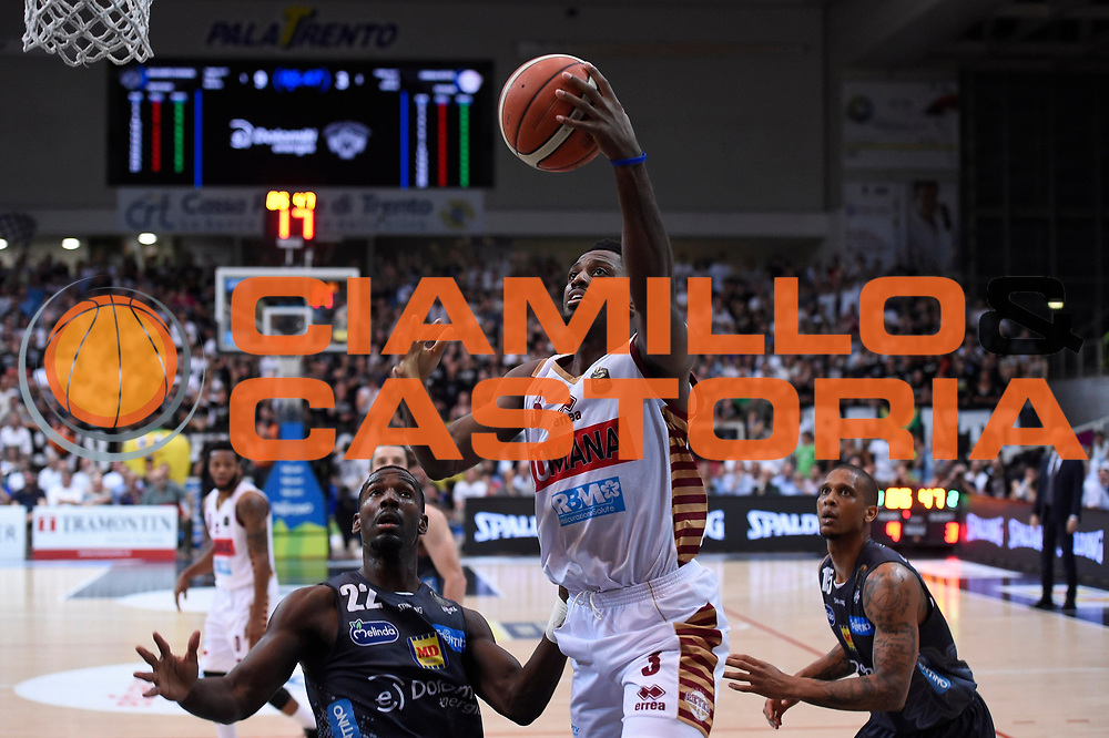Ejim Melvin<br /> Dolomiti Energia Aquila Basket Trento - Umana Reyer Venezia <br /> Lega Basket Serie A 2016/17 Finali Gara 04<br /> Trento, 16/06/2017<br /> Foto Ciamillo-Castoria
