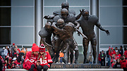 Lincoln, NE - Oct 14:  during their game against the Ohio State Buckeyes at the Memorial Stadium in Lincoln Nebraska October 14, 2017. Photo by Eric Francis