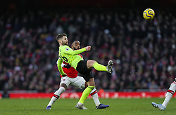 Oliver Norwood of Sheffield United makes a clearance - Mandatory by-line: Arron Gent/JMP - 18/01/2020 - FOOTBALL - Emirates Stadium - London, England - Arsenal v Sheffield United - Premier League