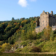 Neidpath Castle near Peebles, Scottish Borders in the Autumn