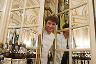 = The chef de cuisine. Frank Ceruti in the kitchen of the Louis XV  restaurant of Alain Ducasse   Monaco  Monaco   /// Frank Ceruti chef cuisinier, dans les cuisines du  restaurant le Louis XV de Alain DUCASSE  Monaco  Monaco Hotel de paris SBM /// L0055501