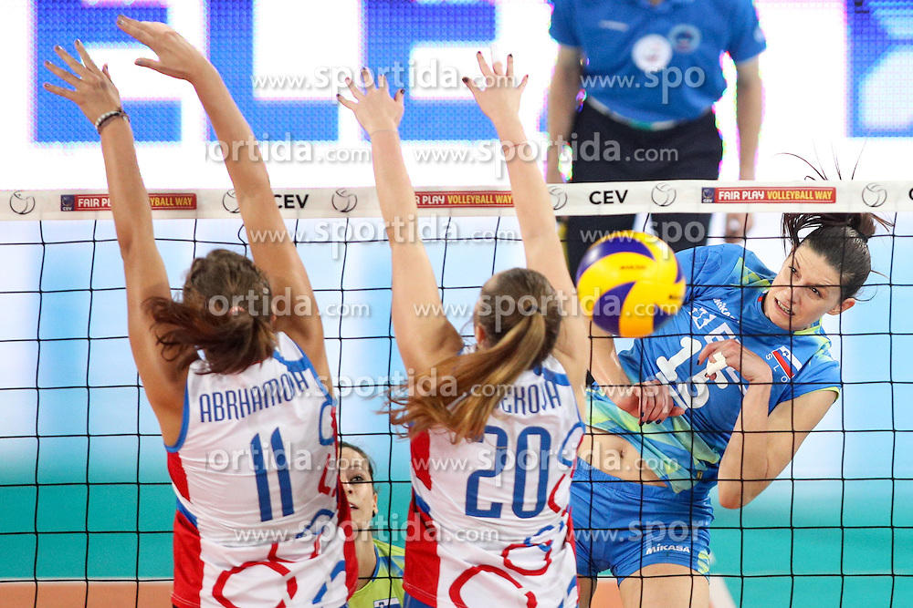 Marina Cvetanovic of Slovenia during volleyball match between Slovenia and Slovakia in CEV European League Women on June 22, 2016 in Stozice, Ljubljana, Slovenia. Photo by Morgan Kristan / Sportida