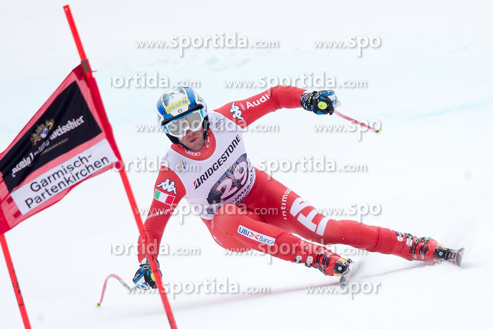 27.02.2015, Kandahar, Garmisch Partenkirchen, GER, FIS Weltcup Ski Alpin, Abfahrt, Herren, 2. Training, im Bild Werner Heel (ITA) // Werner Heel of Italy in action during the 2nd trainings run for the men's Downhill of the FIS Ski Alpine World Cup at the Kandahar course, Garmisch Partenkirchen, Germany on 2015/27/02. EXPA Pictures © 2015, PhotoCredit: EXPA/ Johann Groder