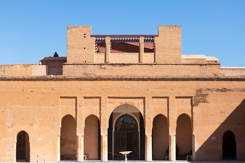 El Badi Palace Architecture, Marrakesh, Morocco, 2016–04-21. <br />