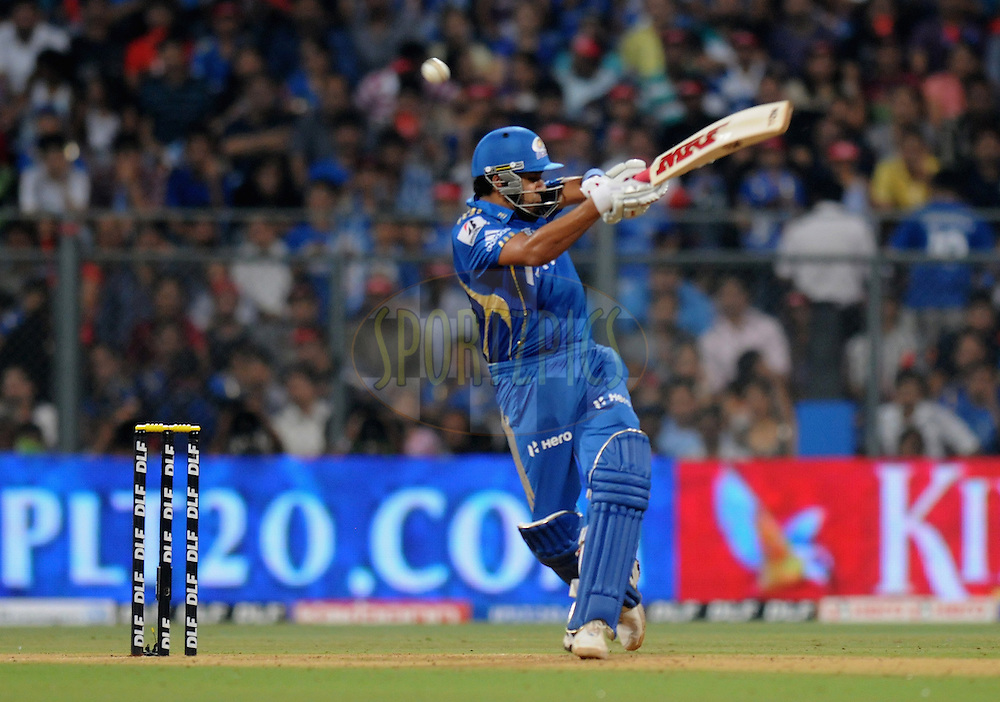Rohit Sharma of Mumbai Indians bats during match 19 of the Indian Premier League ( IPL) 2012  between The Mumbai Indians and the Delhi Daredevils held at the Wankhede Stadium in Mumbai on the 16th April 2012..Photo by Pal Pillai/IPL/SPORTZPICS.
