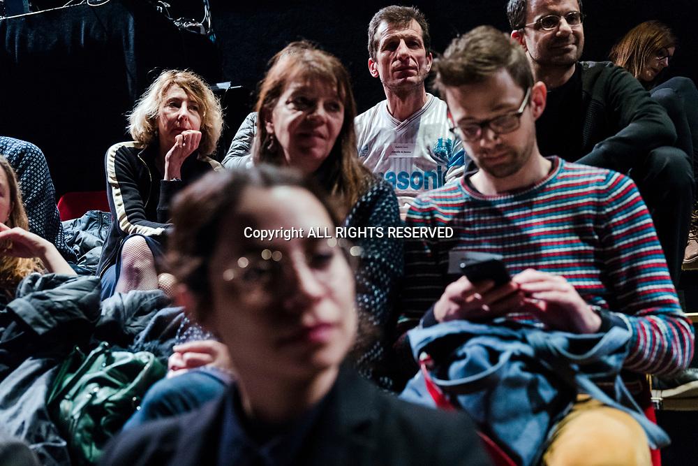 Lausanne, mars 2018. Le Théâtre de Vidy et l'Arsenic organisent des rencontres avec des professionnels, programmateurs, directeurs de théâtre suisses et étrangers. C'est ce qu'on appelle des salons d'artistes. © Olivier Vogelsang