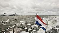"""Nederland. Waddenzee tussen Harlingen en Terschelling 13 juni 2008. <br /> """"Midsland"""", een veerboot van rederij Doeksen op de Waddenzee tussen harlingen en Terschelling.<br /> Foto Martijn Beekman <br /> NIET VOOR TROUW, AD, TELEGRAAF, NRC EN HET PAROOL"""
