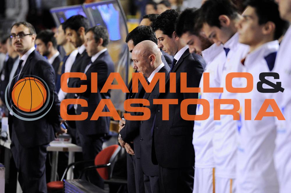 DESCRIZIONE : Roma Lega A 2013-14 Acea Virtus Roma - Virtus Granarolo Bologna<br /> GIOCATORE : Acea Virtus Roma<br /> CATEGORIA : lutto pre game <br /> SQUADRA : Acea Virtus Roma<br /> EVENTO : Campionato Lega A 2013-2014 <br /> GARA : Acea Virtus Roma - Virtus Granarolo Bologna<br /> DATA : 17/11/2013<br /> SPORT : Pallacanestro <br /> AUTORE : Agenzia Ciamillo-Castoria/N. Dalla Mura<br /> Galleria : Lega Basket A 2013-2014  <br /> Fotonotizia : Roma Lega A 2013-14 Acea Virtus Roma - Virtus Granarolo Bologna