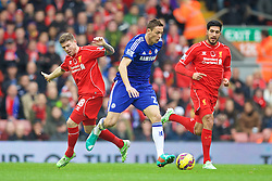 LIVERPOOL, ENGLAND - Saturday, November 8, 2014: Chelsea's Nemanja Matic in action against Liverpool during the Premier League match at Anfield. (Pic by David Rawcliffe/Propaganda)