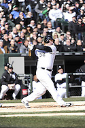 CHICAGO - APRIL 01:  Adam Dunn #32 of the Chicago White Sox bats against the Kansas City Royals on April 1, 2013 at U.S. Cellular Field in Chicago, Illinois.  The White Sox defeated the Royals 1-0.  (Photo by Ron Vesely)   Subject: Adam Dunn