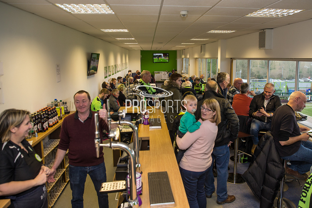 Black and White lounge during the EFL Sky Bet League 2 match between Forest Green Rovers and Coventry City at the New Lawn, Forest Green, United Kingdom on 3 February 2018. Picture by Shane Healey.