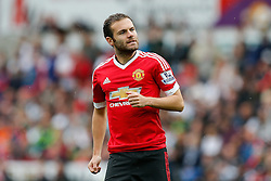 Juan Mata of Manchester United looks frustrated - Mandatory byline: Rogan Thomson/JMP - 07966 386802 - 30/08/2015 - FOOTBALL - Liberty Stadium - Swansea, Wales - Swansea City v Manchester United - Barclays Premier League.