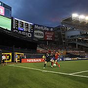 Seamus Coleman, Ireland and Jordi Alba, Spain, in action during the Spain V Ireland International Friendly football match at Yankee Stadium, The Bronx, New York. USA. 11th June 2013. Photo Tim Clayton