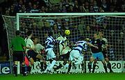 29/11/2003 - Photo  Peter Spurrier.2003/04 Nationwide Football Div 2 QPR V Sheffield Wed.Tony Thorpe (No 9) scores Ranger's second goal.