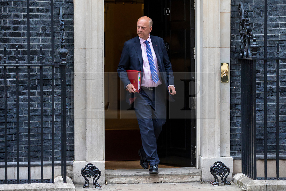 © Licensed to London News Pictures. 05/06/2018. London, UK. Transport Secretary Chris Grayling leaves 10 Downing Street after the Cabinet meeting. Photo credit: Rob Pinney/LNP